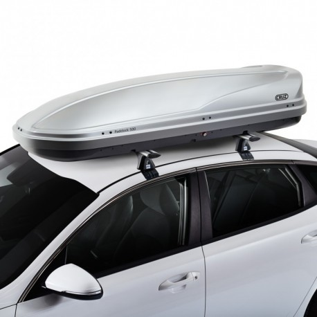 CRUZ Roof Box - DUAL OPENING - 500L Paddock GREY